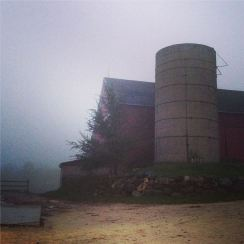 Foggy Night at the Barn