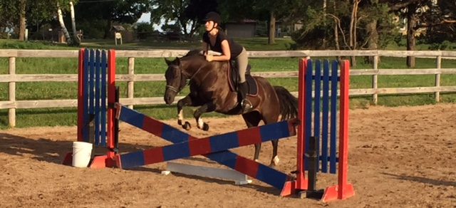 Twinkle hates x-shaped jumps and white things. So, naturally, we jump over those things a lot.