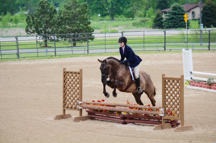 A good canter means we can jump UP rather than OUT.